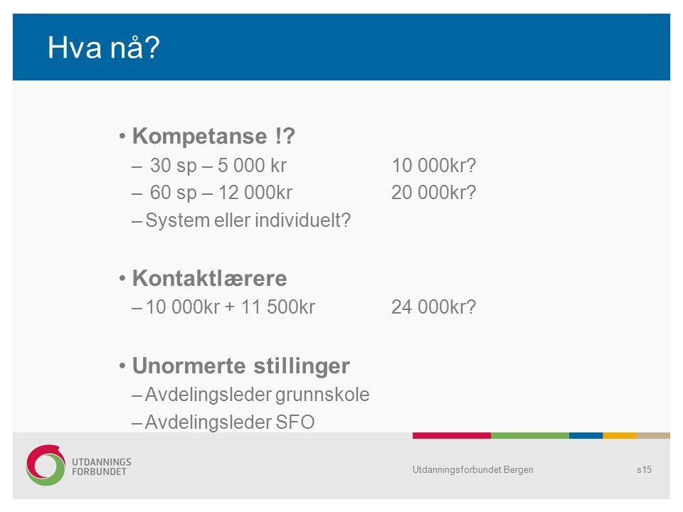 Hva nå. Kompetanse !. – 30 sp – 5 000 kr10 000kr.
