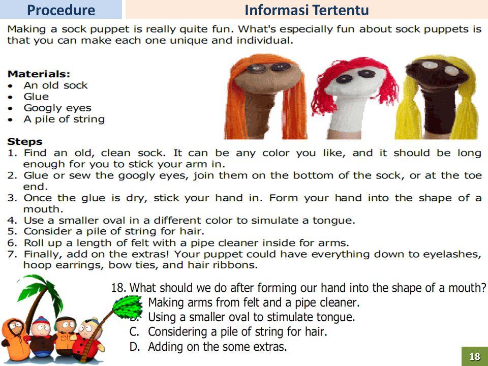 Informasi TertentuProcedure18