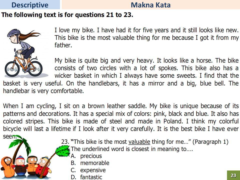 Makna KataDescriptive23