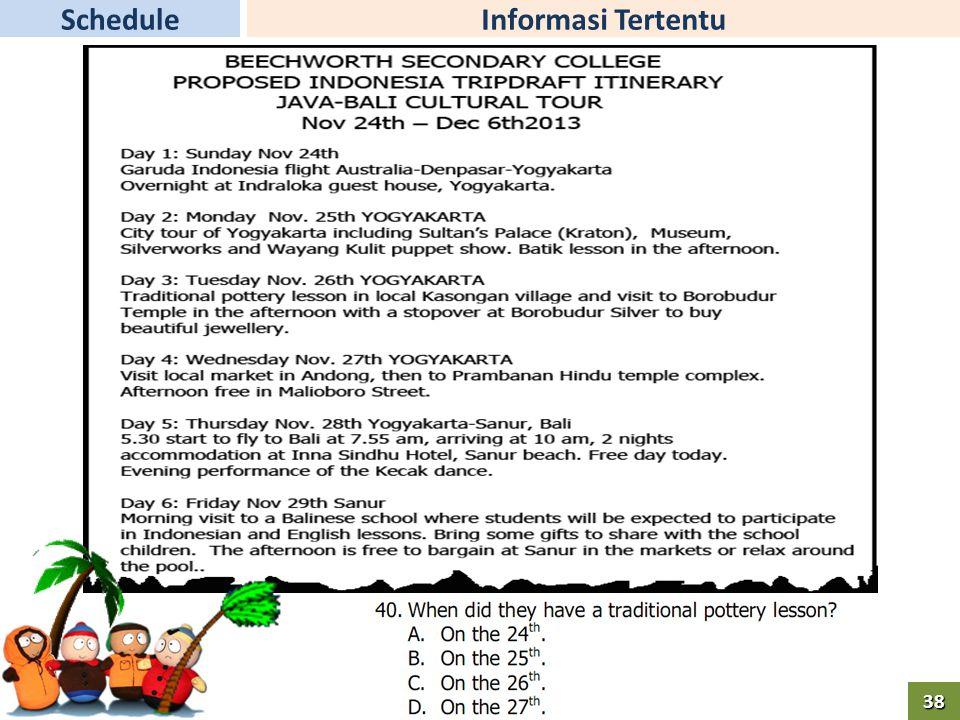 Informasi TertentuSchedule38