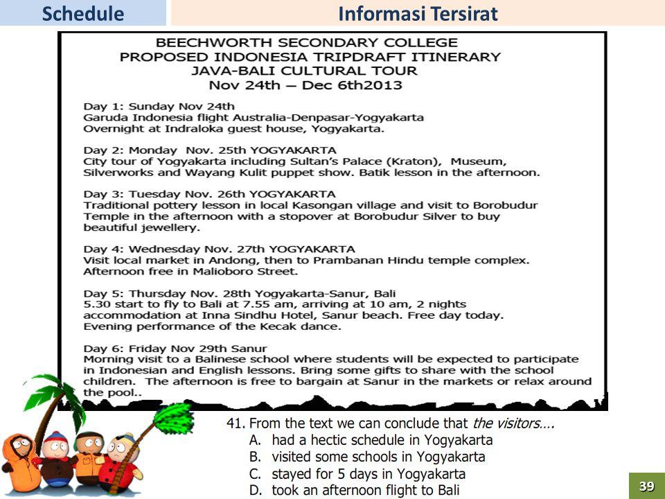 Informasi TersiratSchedule39