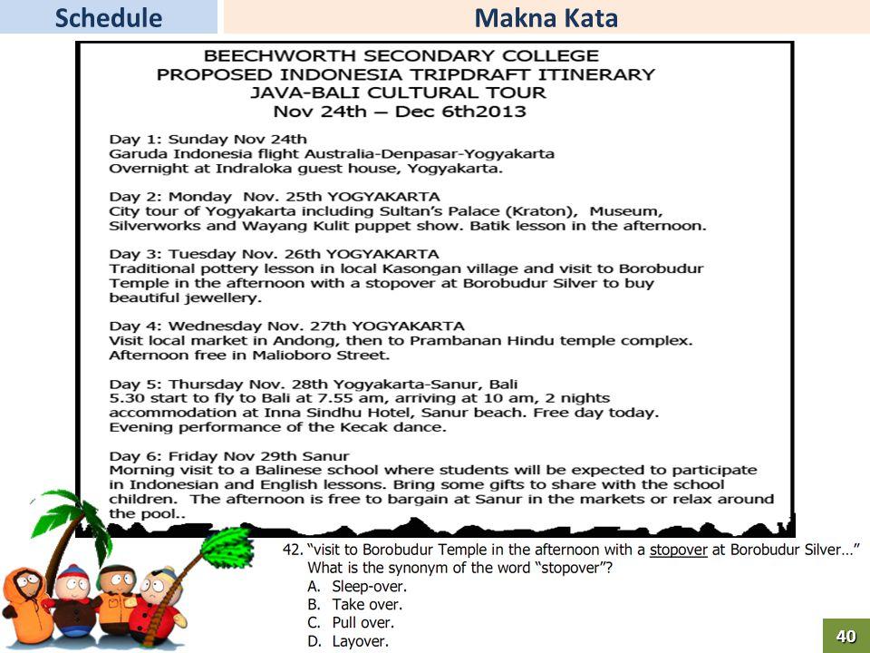 Makna KataSchedule40