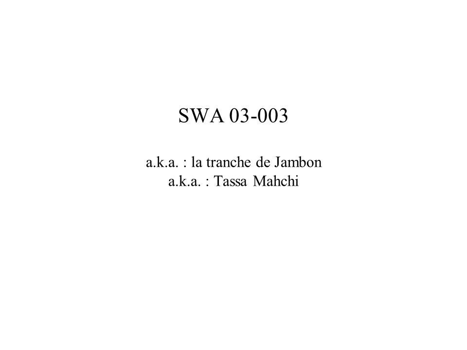 SWA 03-003 a.k.a. : la tranche de Jambon a.k.a. : Tassa Mahchi
