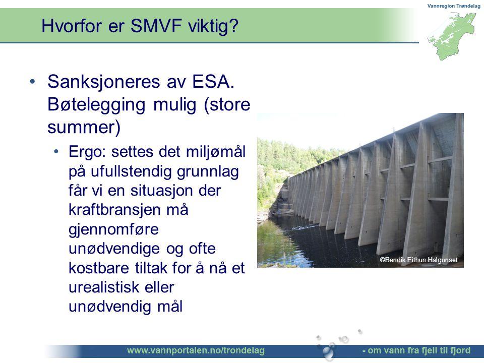 Hvorfor er SMVF viktig. Sanksjoneres av ESA.