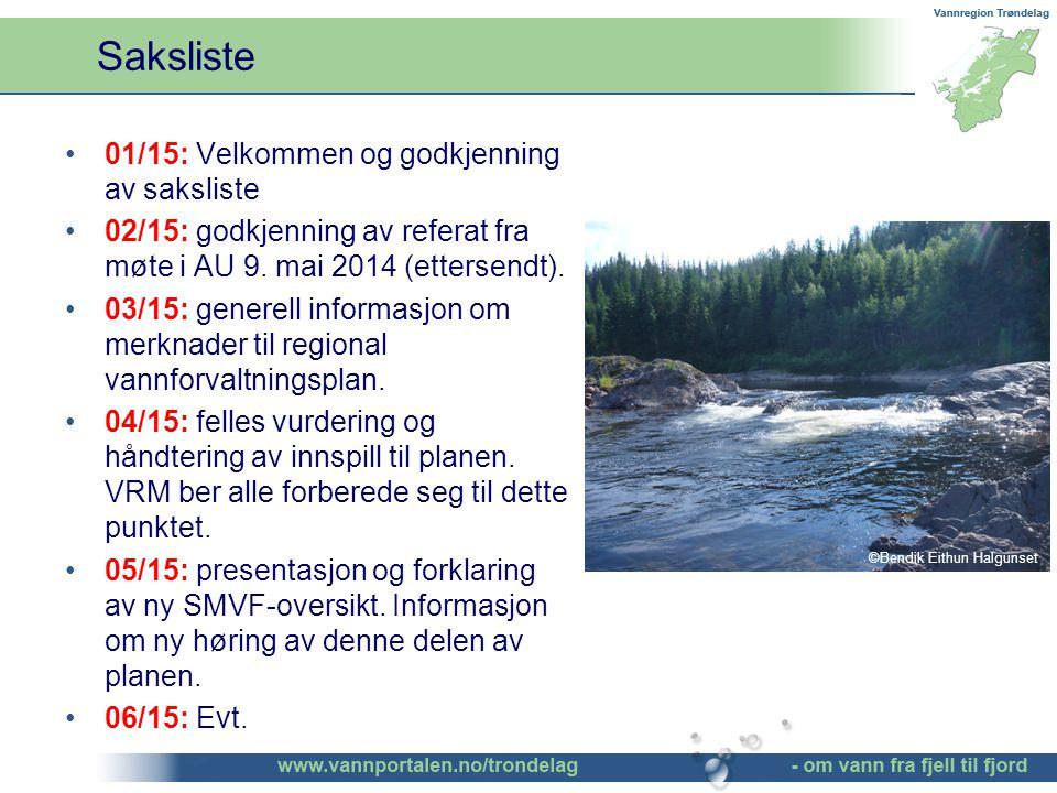 01/15: Velkommen og godkjenning av saksliste 02/15: godkjenning av referat fra møte i AU 9.