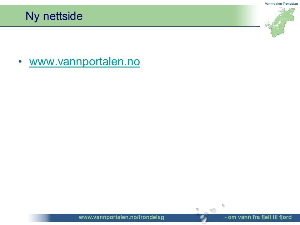 Ny nettside www.vannportalen.no