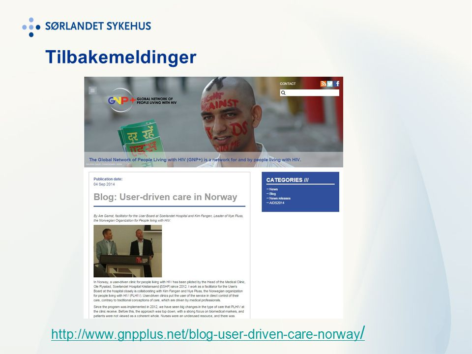 Tilbakemeldinger http://www.gnpplus.net/blog-user-driven-care-norway /