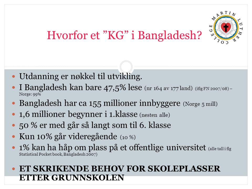 Hvorfor et KG i Bangladesh. Utdanning er nøkkel til utvikling.