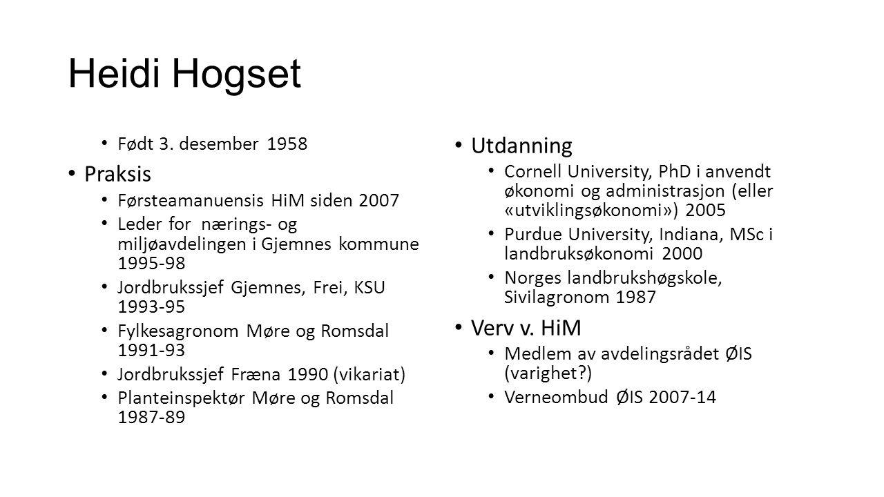 Heidi Hogset Født 3.