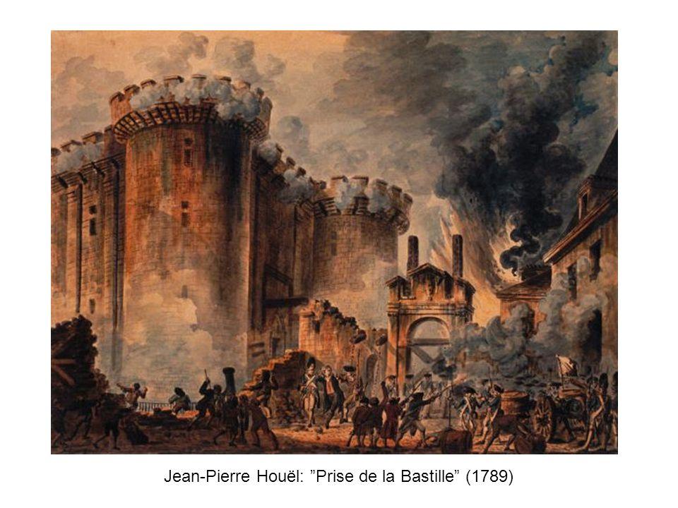 """Jean-Pierre Houël: """"Prise de la Bastille"""" (1789)"""