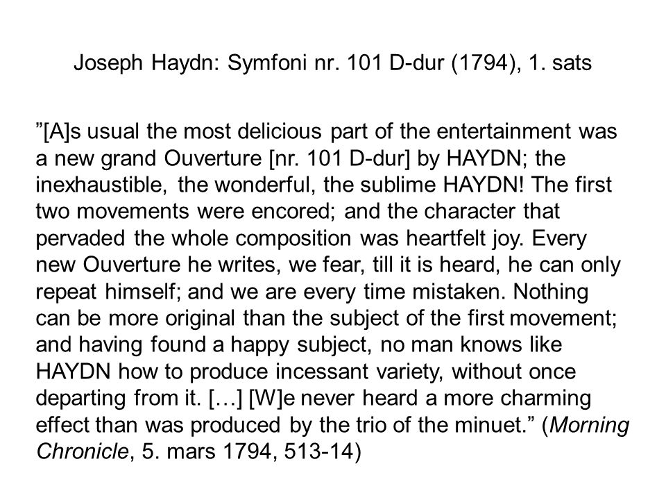 Joseph Haydn: Symfoni nr.100 G-dur Militærsymfonien , 2.