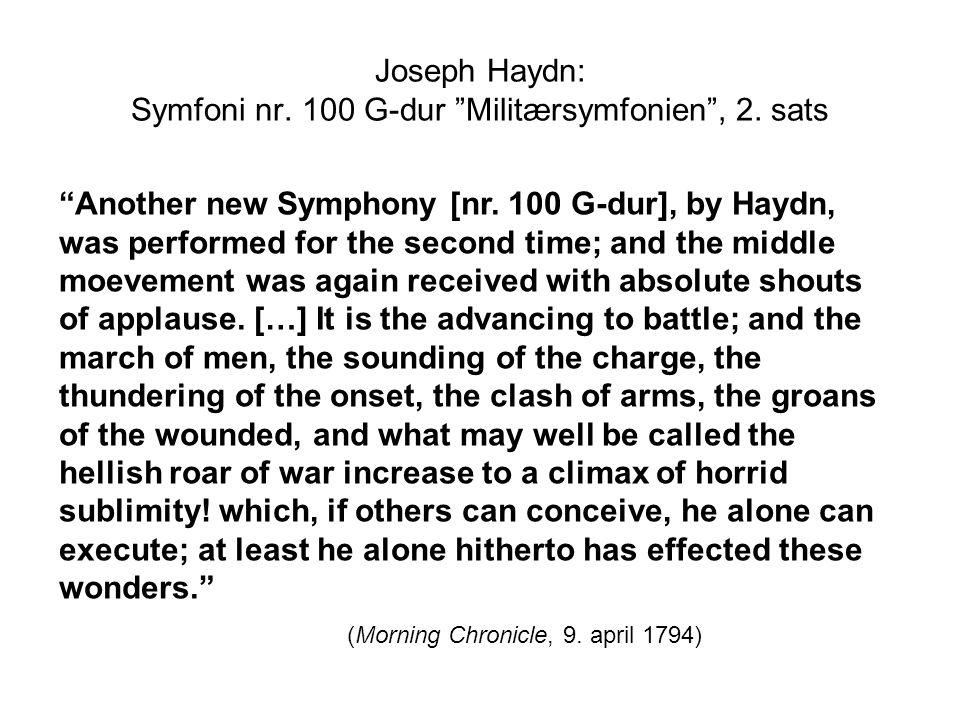Joseph Haydn: Symfoni nr.100 G-dur Militærsymfonien , 4.