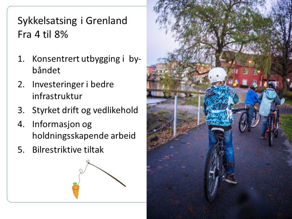 Utvikling sykling i Grenland(Smieøya) Tellingene er ikke gode nok