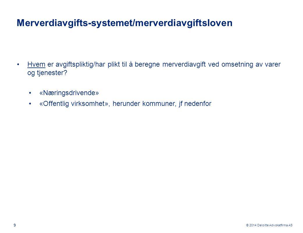 © 2014 Deloitte Advokatfirma AS Kjennetegn ved henholdsvis anleggsbidragsmodellen og justeringsreglene 20