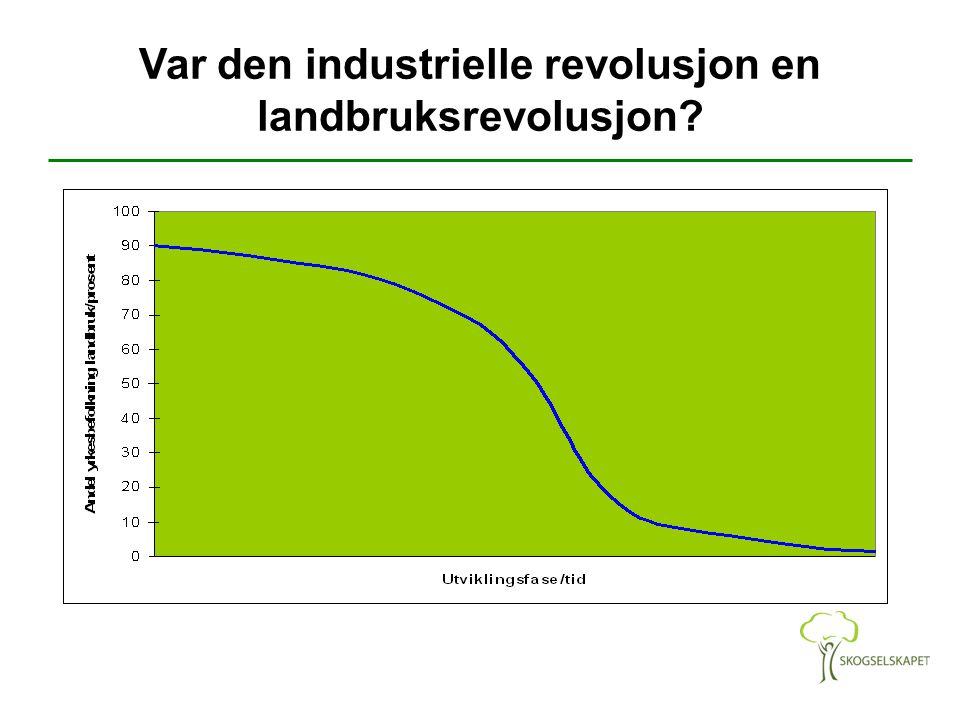 Var den industrielle revolusjon en landbruksrevolusjon?