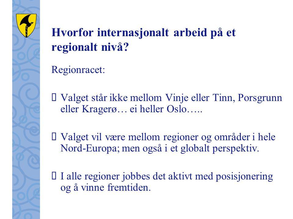 Hvorfor internasjonalt arbeid på et regionalt nivå.