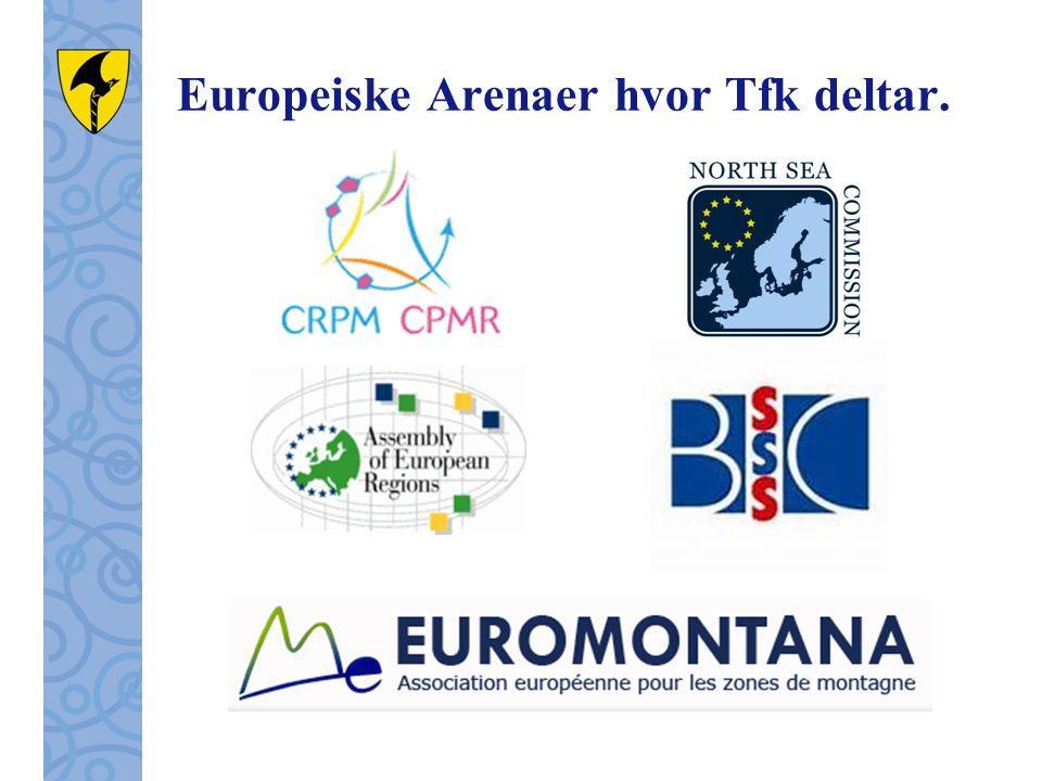 Europeiske Arenaer hvor Tfk deltar.