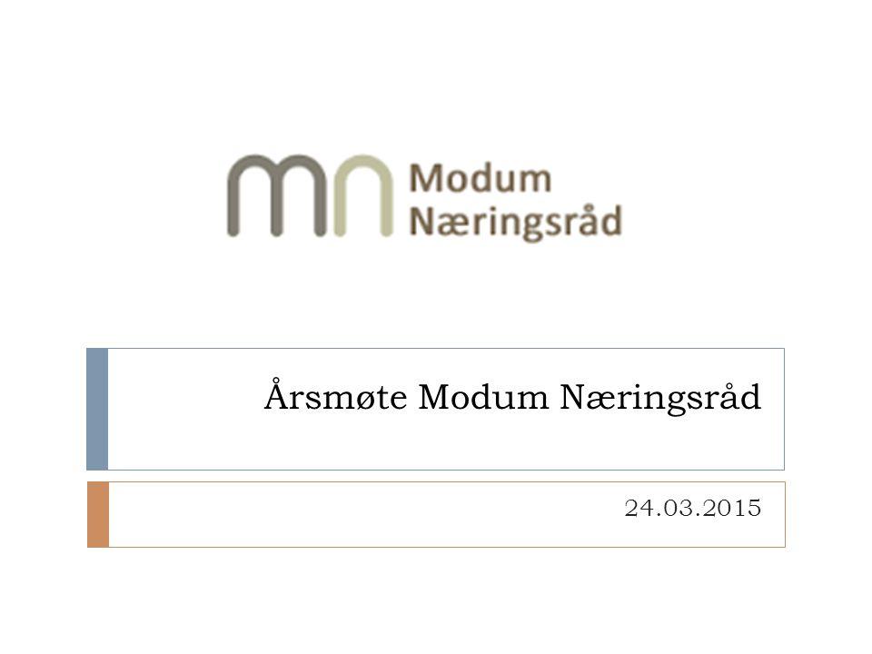Årsmøte Modum Næringsråd 24.03.2015