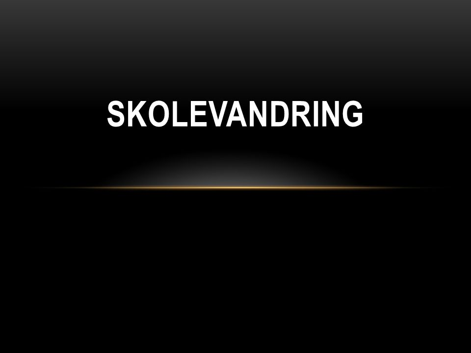 SKOLEVANDRING