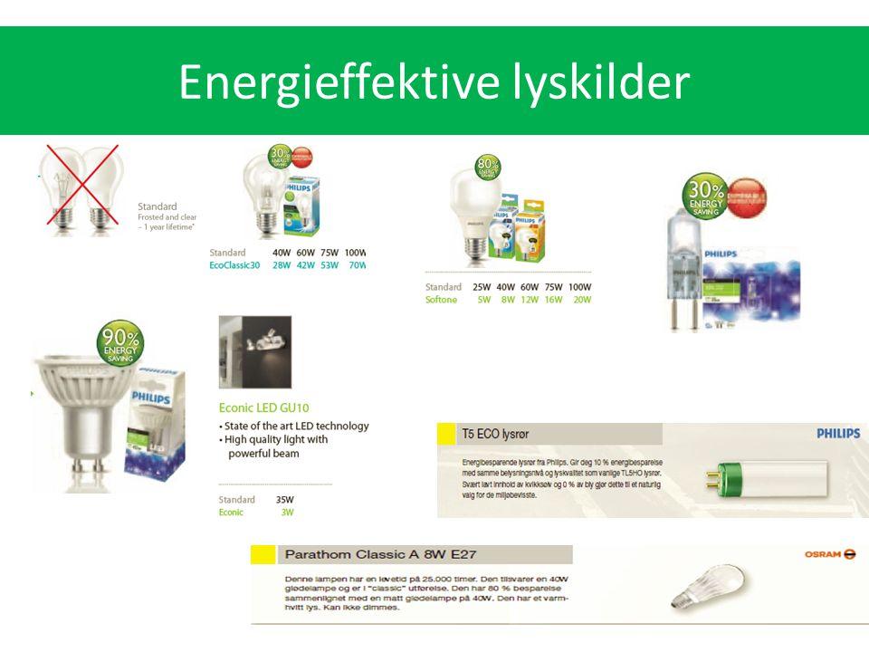 Energieffektive lyskilder