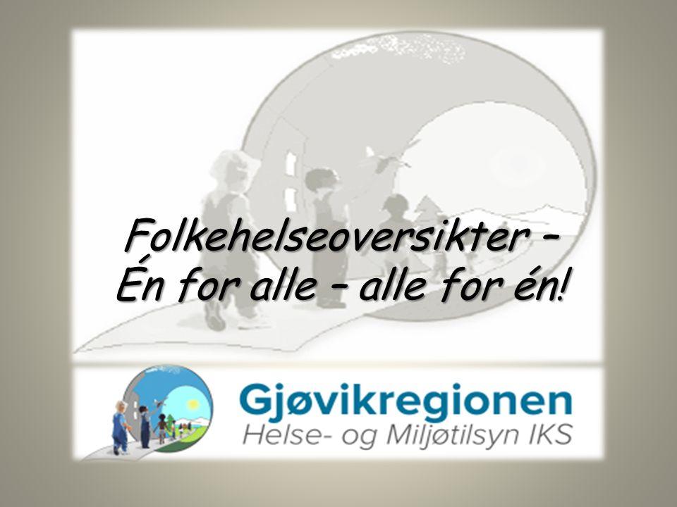 Folkehelseoversikter – Én for alle – alle for én!
