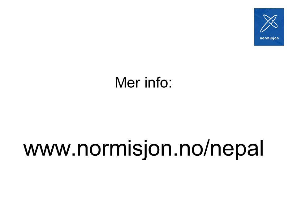 Mer info: www.normisjon.no/nepal