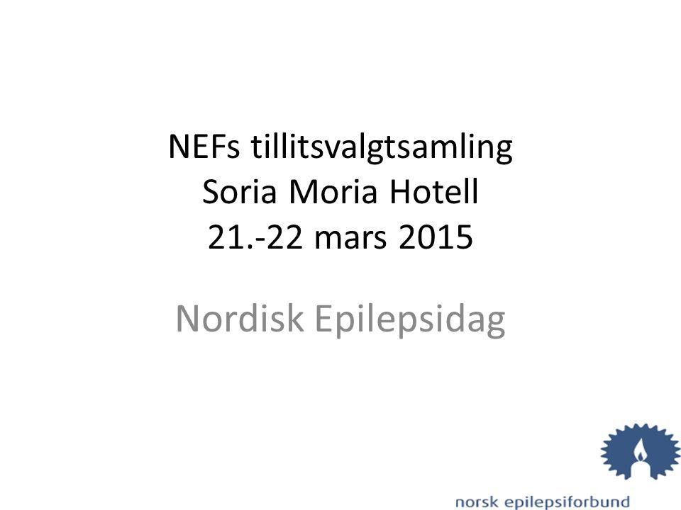 NEFs tillitsvalgtsamling Soria Moria Hotell 21.-22 mars 2015 Nordisk Epilepsidag