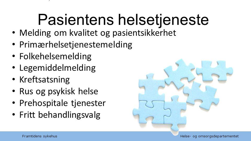 Helse- og omsorgsdepartementet Norsk mal:Tekst med kulepunkter Tips bunntekst: For å få bort sidenummer, dato, samt redigere tittel på presentasjon: K