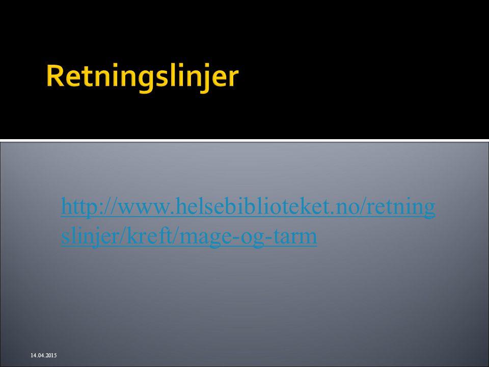http://www.helsebiblioteket.no/retning slinjer/kreft/mage-og-tarm