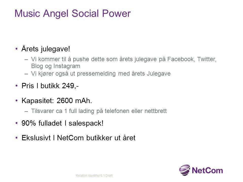 Music Angel Social Power Årets julegave! –Vi kommer til å pushe dette som årets julegave på Facebook, Twitter, Blog og Instagram –Vi kjører også ut pr