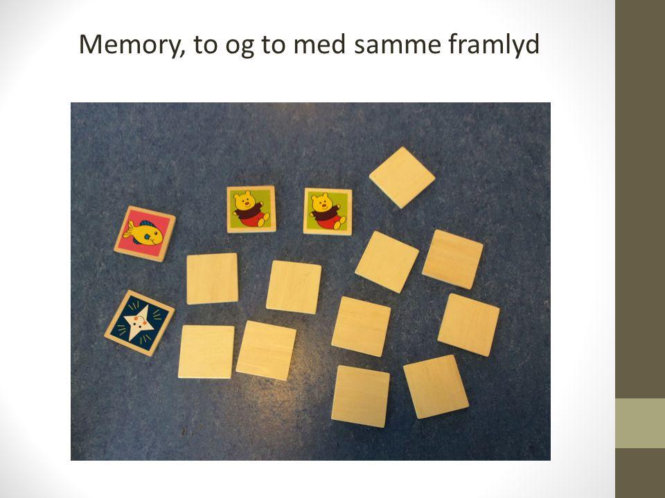 Memory, to og to med samme framlyd