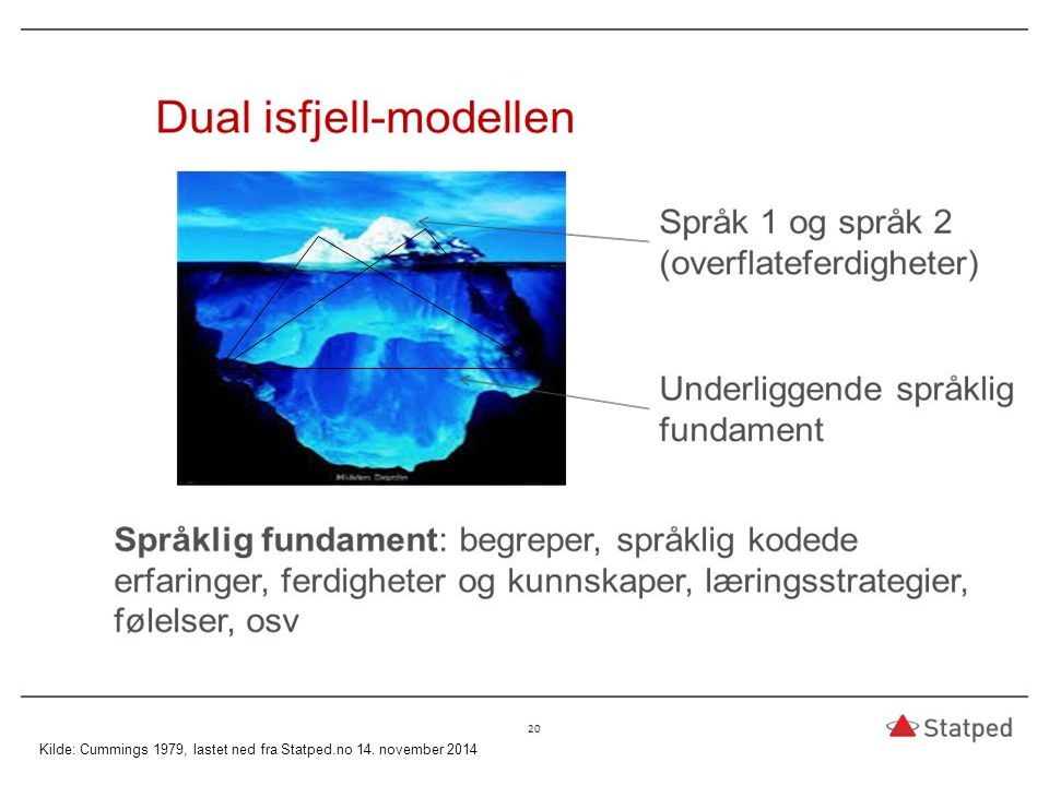 Dual Iceberg Model: Kilde: Cummings 1979, lastet ned fra Statped.no 14. november 2014