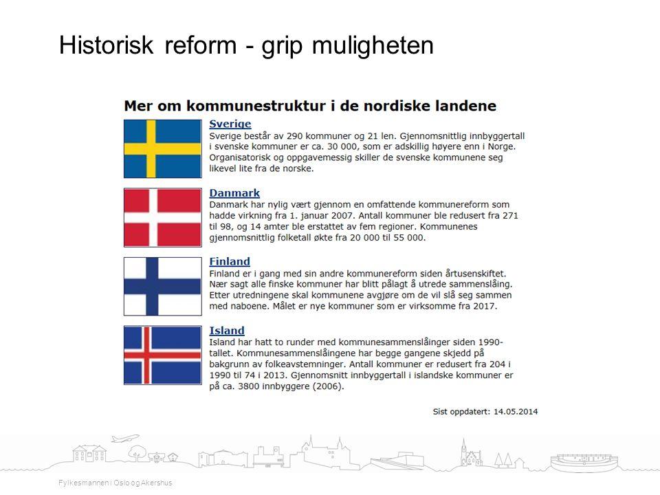 Historisk reform - grip muligheten Fylkesmannen i Oslo og Akershus