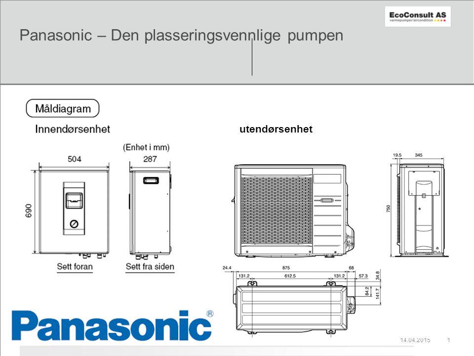14.04.20151 Panasonic – Den plasseringsvennlige pumpen utendørsenhet