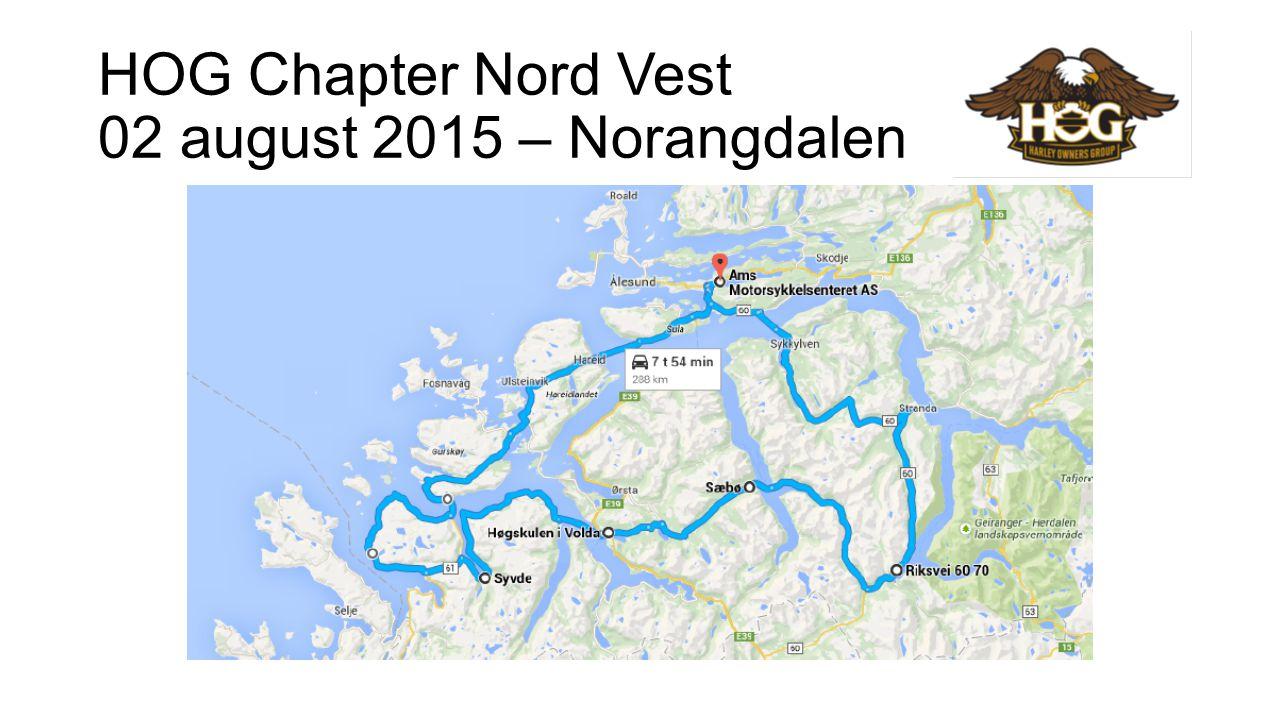 HOG Chapter Nord Vest 16 august 2015 – Eikesdalen