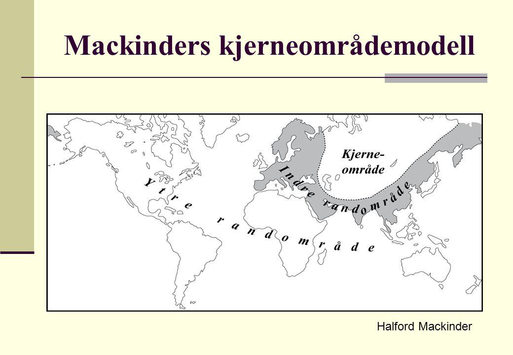 Mackinders kjerneområdemodell Halford Mackinder