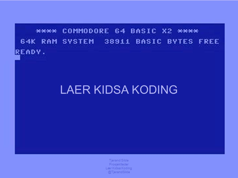 kidsakoder.no https://commons.wikimedia.org/wiki/File:C64_startup_animiert.gif LAER KIDSA KODING fremtid, innovasjon, empowerment, demokrati, kompetan