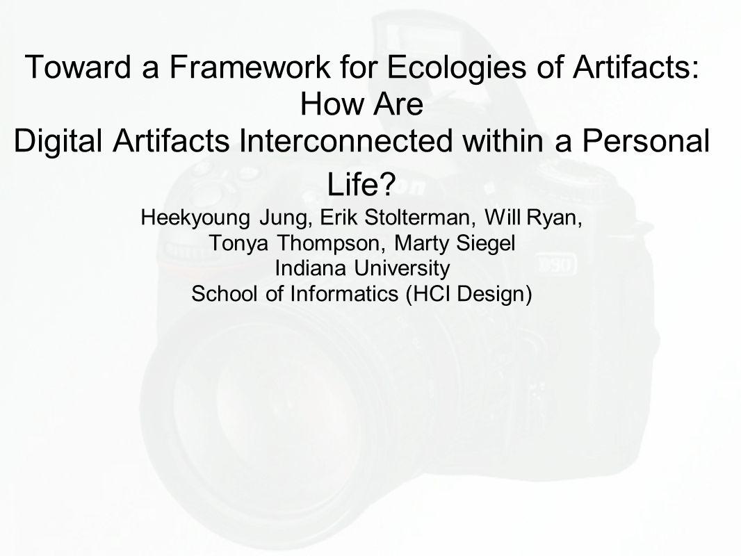 Om artikkelen Ecology of Artefact