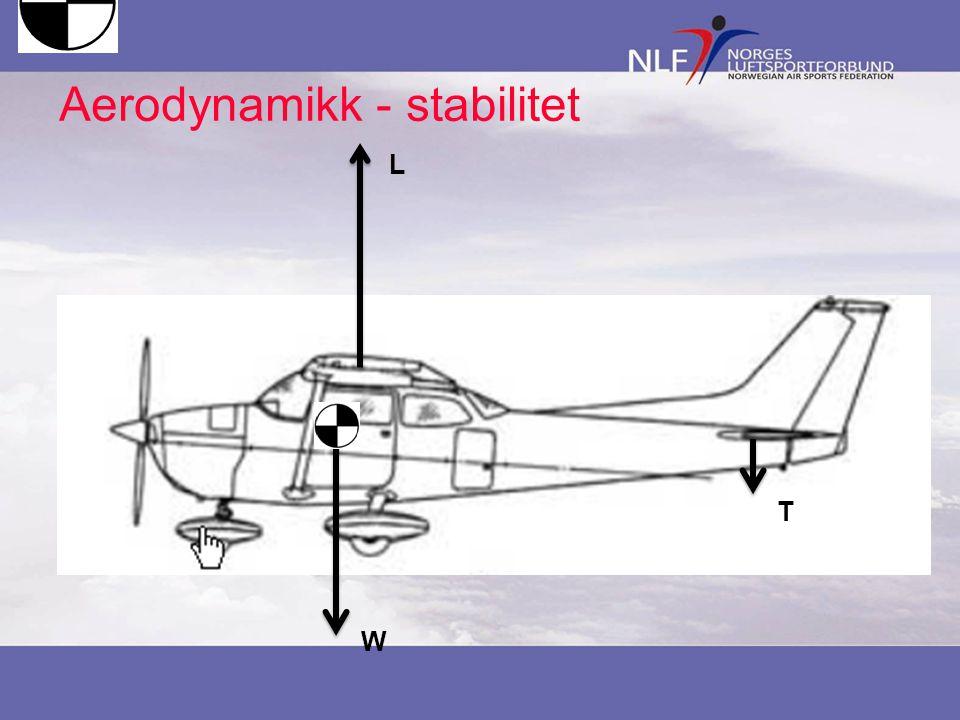 Aerodynamikk - stabilitet W L T