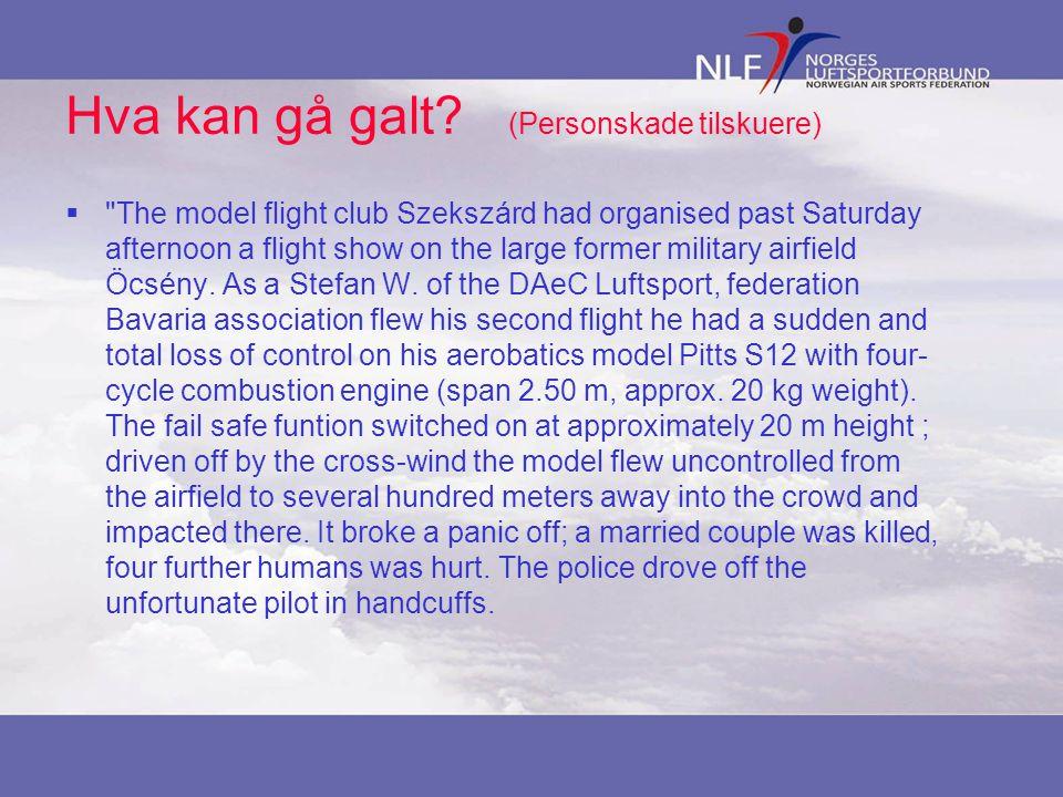 Sikkerhet – Rekkeviddetest  Formålet: å avdekke feil ved utstyr eller installasjonen av det i flyet.