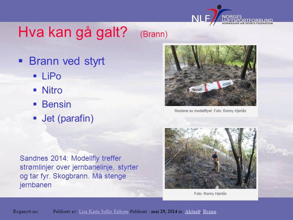 Hva kan gå galt? (Materielle skader) Hentet fra www.TA.no