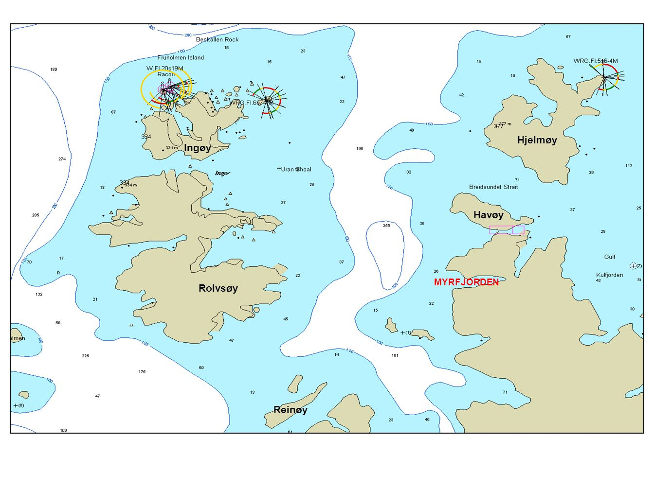 MYRFJORDEN Havøy Rolvsøy Reinøy Ingøy Hjelmøy