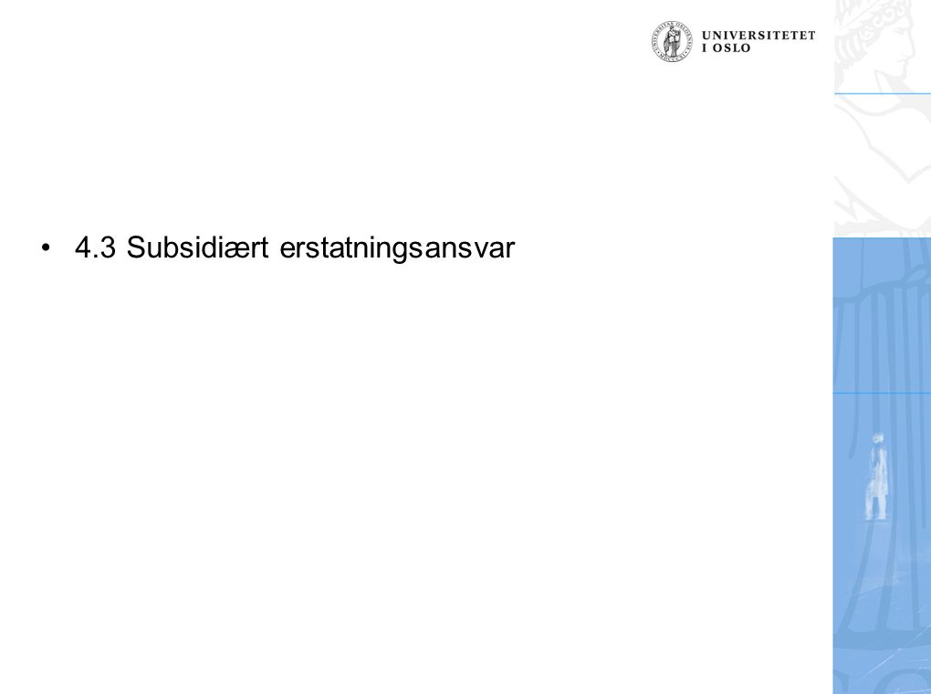 4.3 Subsidiært erstatningsansvar
