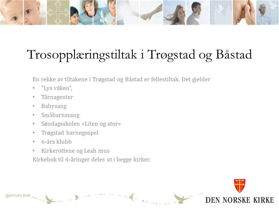 Trosopplæringstiltak i Trøgstad og Båstad En rekke av tiltakene i Trøgstad og Båstad er fellestiltak.