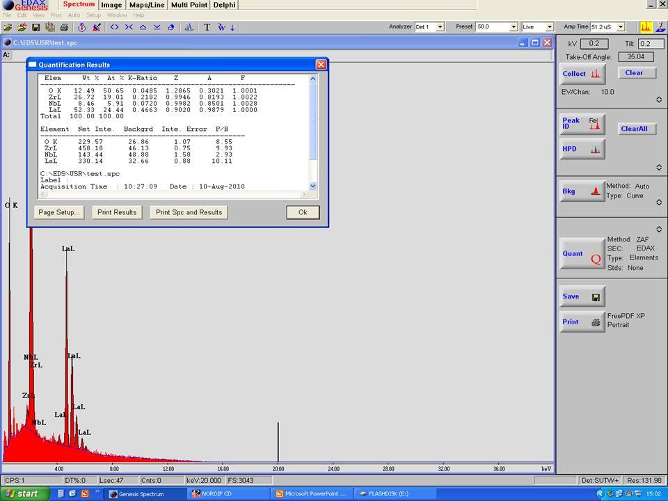 EDS - Detektor En EDS detektor består av énkrystall som absorberer energien av inkommende røntgenstråler.