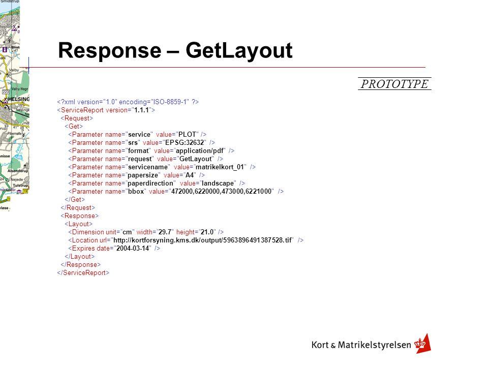 Response – GetLayout PROTOTYPE