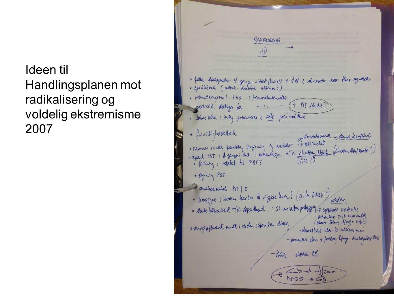 Ideen til Handlingsplanen mot radikalisering og voldelig ekstremisme 2007