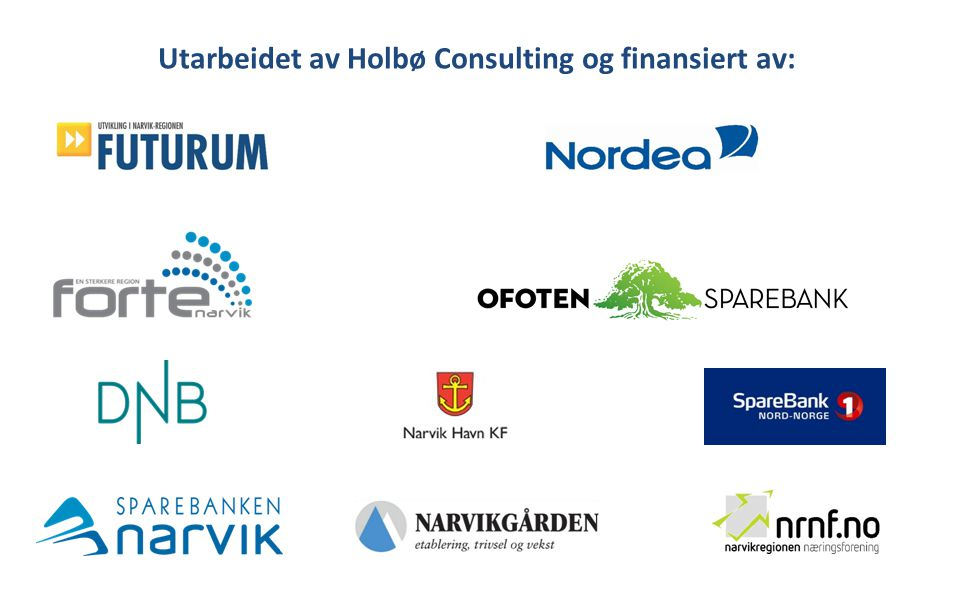 Utarbeidet av Holbø Consulting og finansiert av: