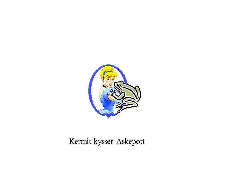 Kermit kysser Askepott