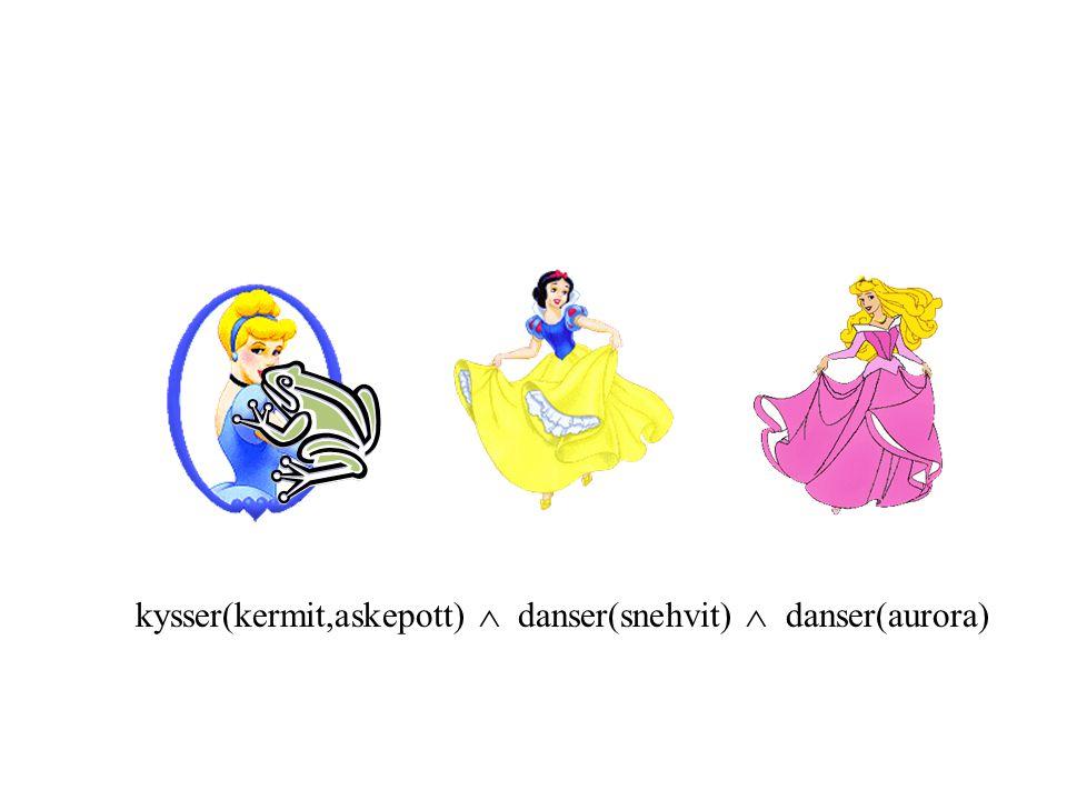 kysser(kermit,askepott)  danser(snehvit)  danser(aurora)